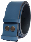 50mm Blue Snap Fit Leather Belt
